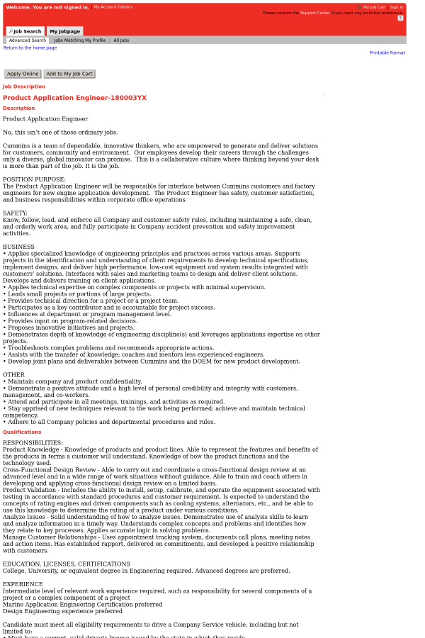 Product Application Engineer job at Cummins in Broomfield, CO ...