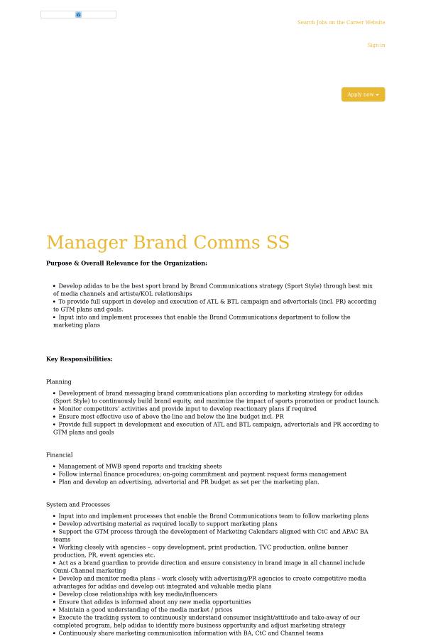 adidas management style