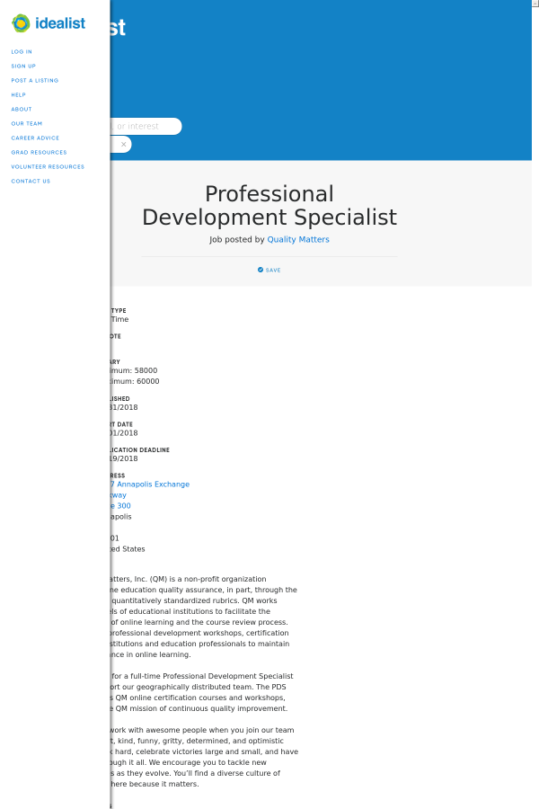 Professional Development Specialist Job At Job Posted By Quality