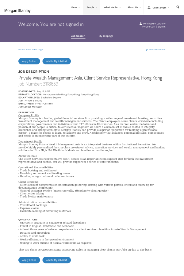 Private Wealth Management Asia, Client Service