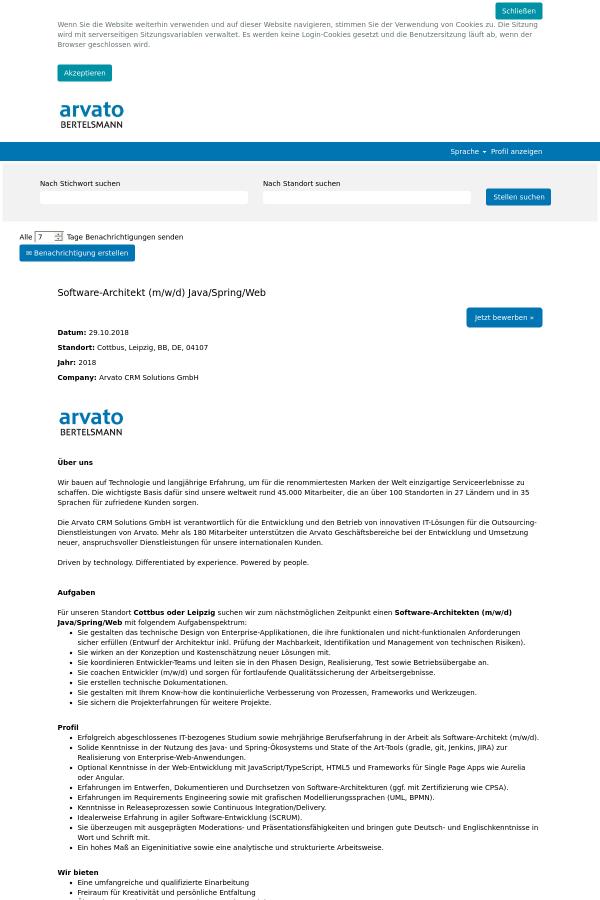 Software - Architekt (m/w / D) Java / Spring / Web job at ...