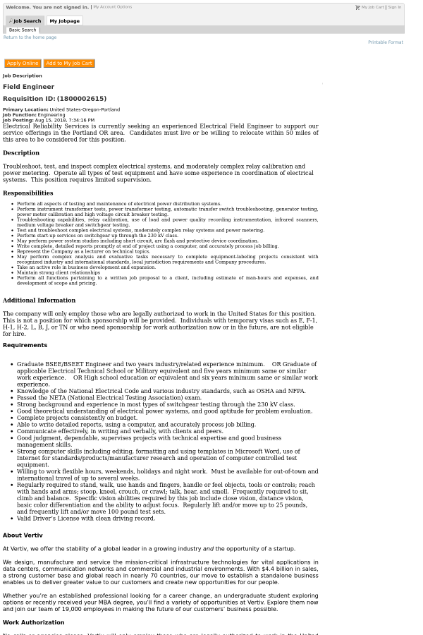 Nice Field Engineer Job Description Images Gallery >> How To Select ...