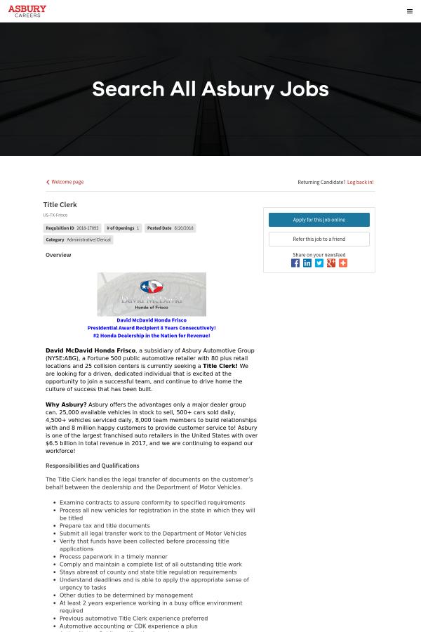 Overview. David McDavid Honda Frisco