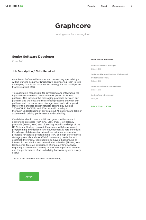 Software Developer Job Description | Senior Software Developer Job At Graphcore In Oslo Norway