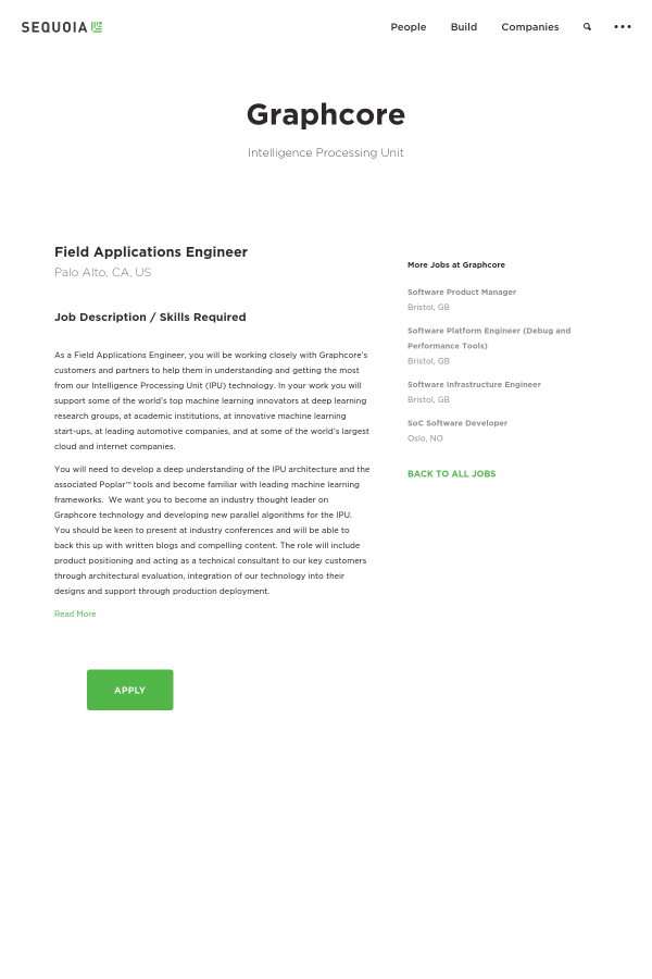 Field Applications Engineer job at Graphcore in Palo Alto, CA ...