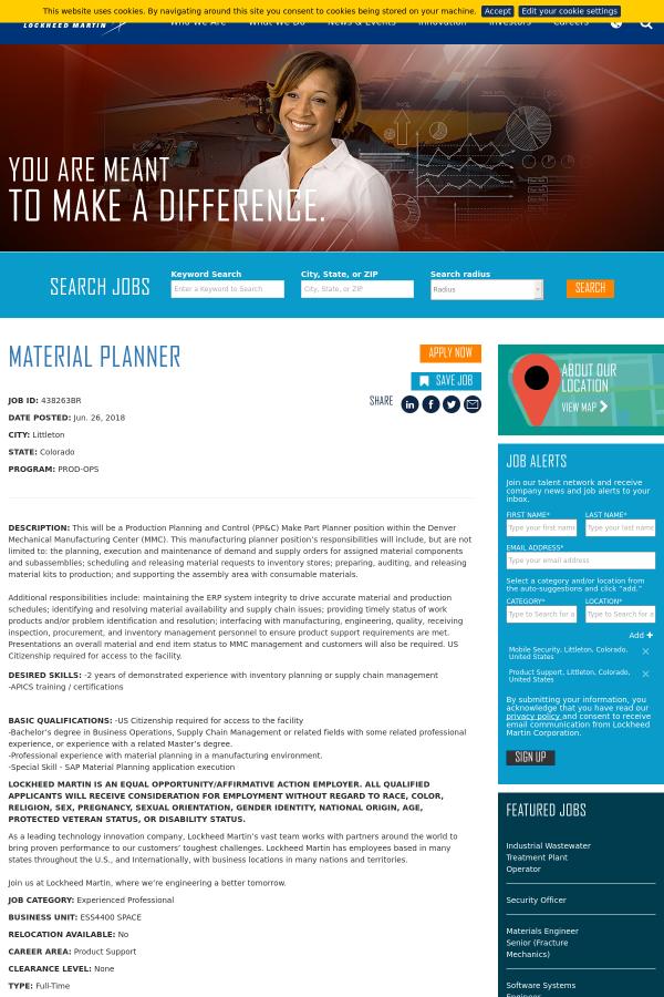 Material Planner Job At Lockheed Martin In Littleton Co 14040429