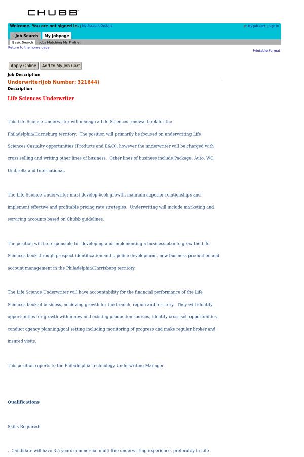 Underwriter job at Chubb in Philadelphia, PA - 14083710 | Tapwage ...