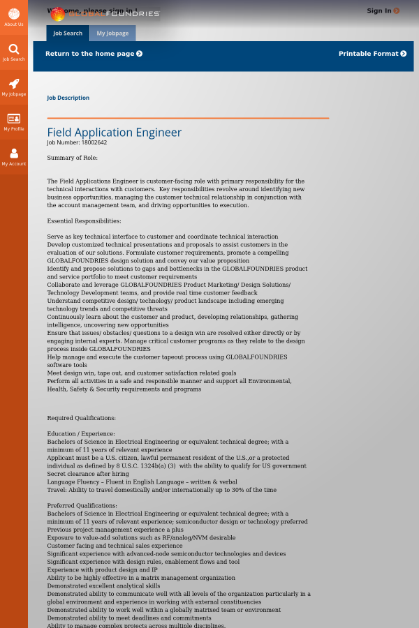 Field Application Engineer job at GLOBALFOUNDRIES in Austin, TX ...