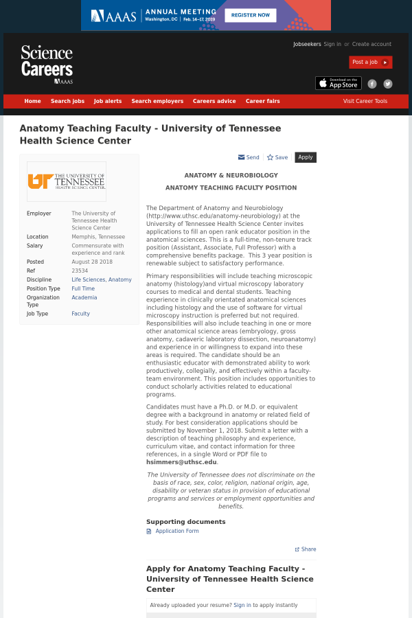 Anatomy Teaching Faculty - University of Tennessee Health Science ...