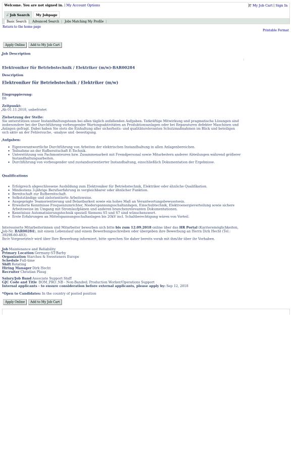 description elektroniker fr betriebstechnik - Bewerbung Elektroniker Fur Betriebstechnik