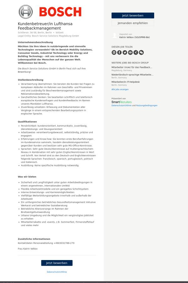 unternehmensbeschreibung - Be Lufthansacom Bewerbung