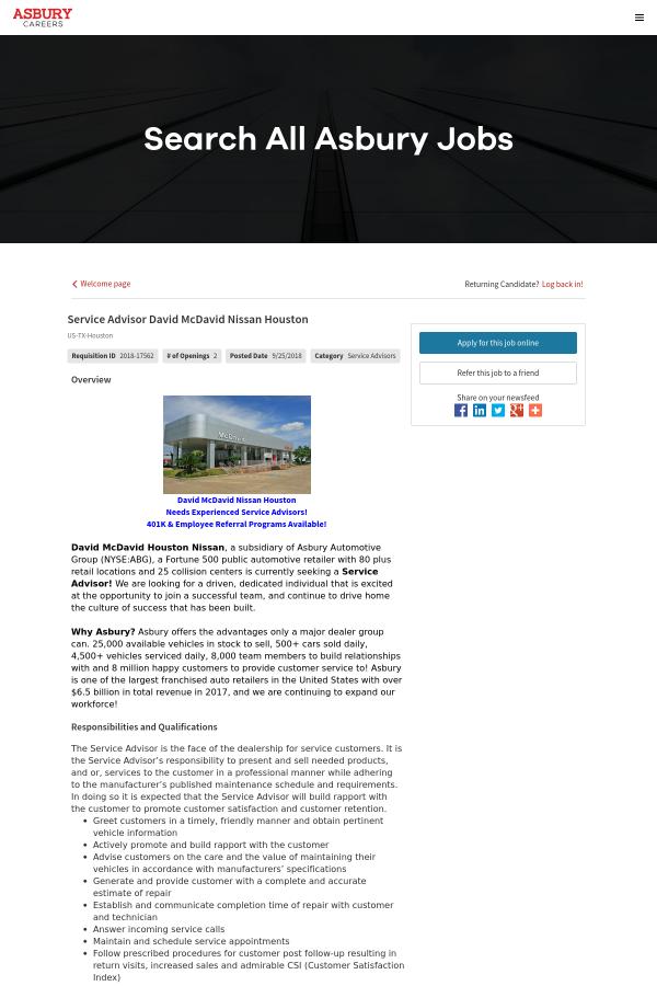 Overview. David McDavid Nissan Houston