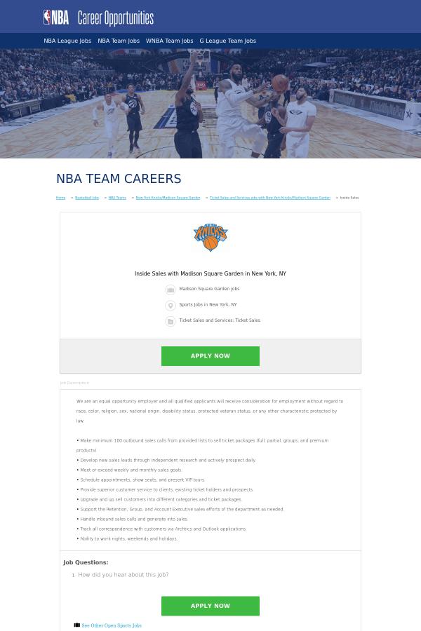we - Madison Square Garden Jobs