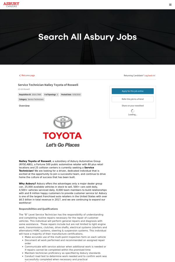 Overview. Nalley Toyota Of Roswell ...