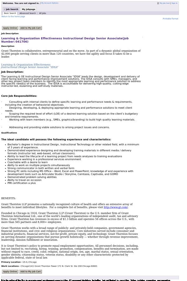 Learning Organization Effectiveness Instructional Design Senior