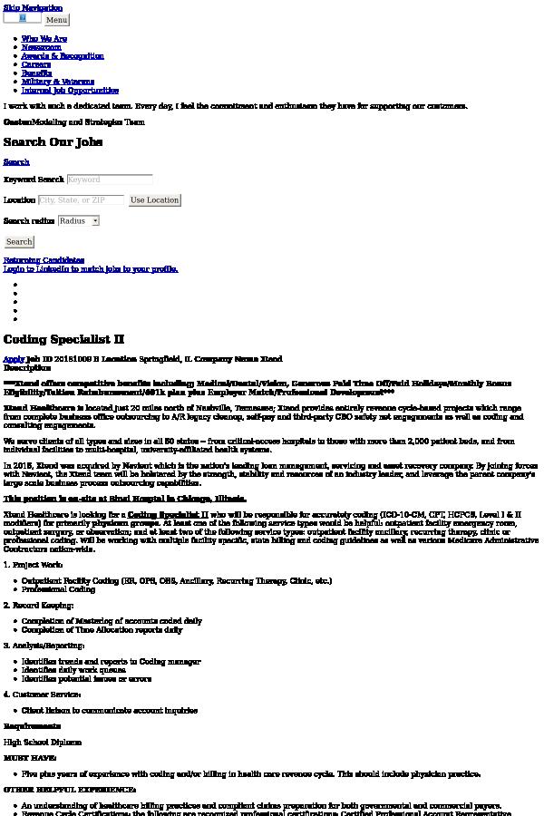 Coding Specialist Ii Job At Navient In Springfield Il 14848839