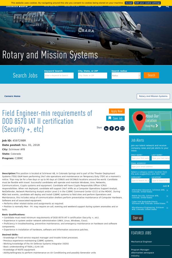 Field Engineer Min Requirements Of Dod 8570 Iat Ii Certification