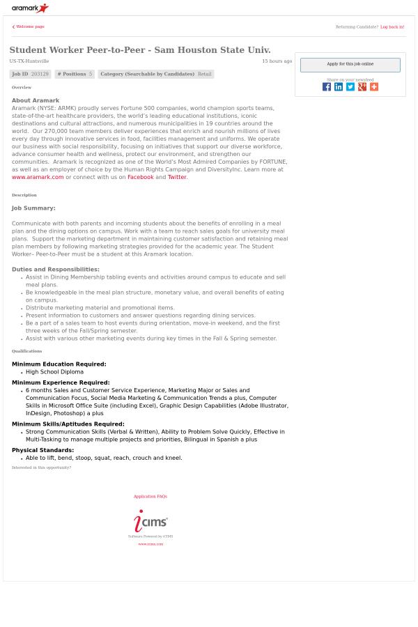 aramark jobs - Monza berglauf-verband com