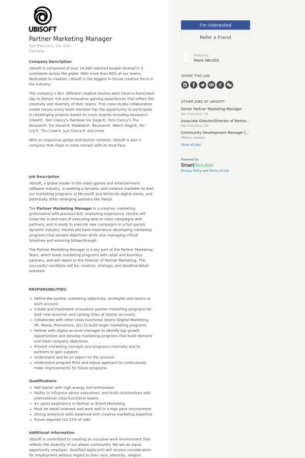 creative marketing manager job description - Papak cmi-c org