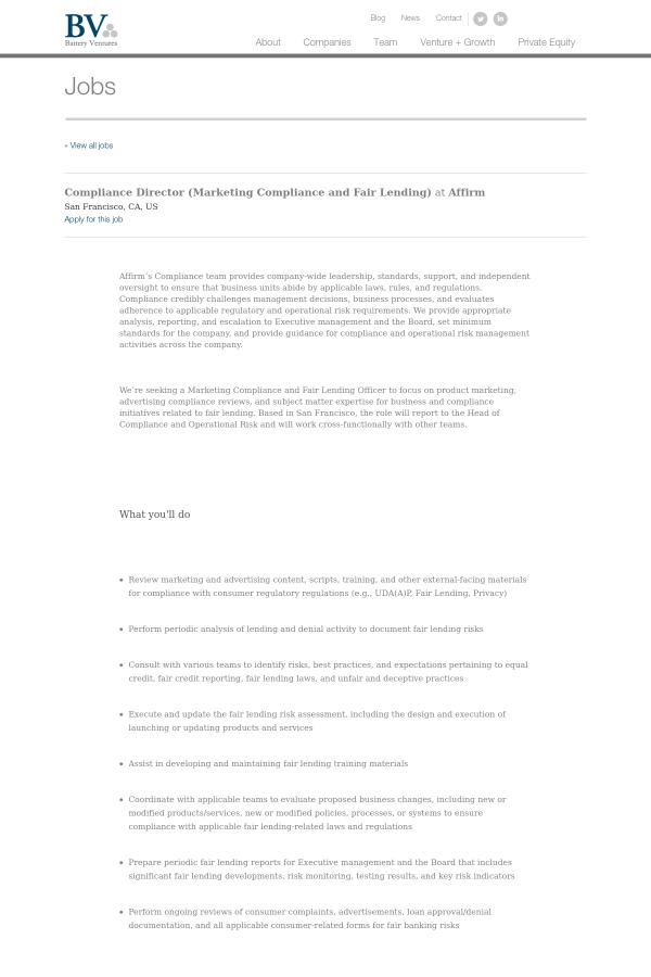 Fair lending risk assessment example