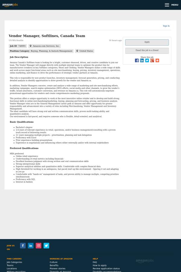 softlines merchandiser job description