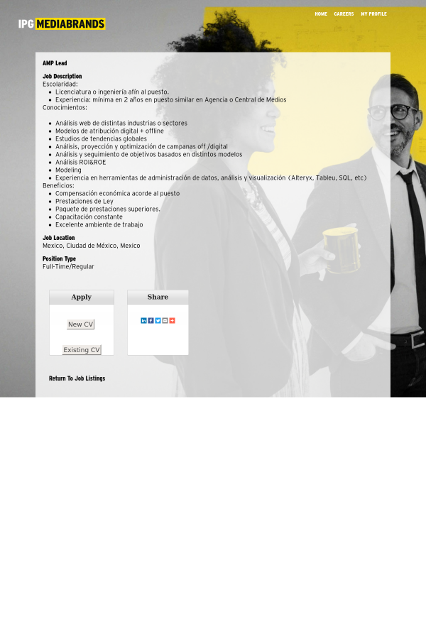 amp lead job at mediabrands in mexico city mexico 15602048