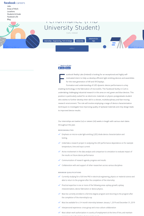 Research Intern, Device Performance (PhD University Student