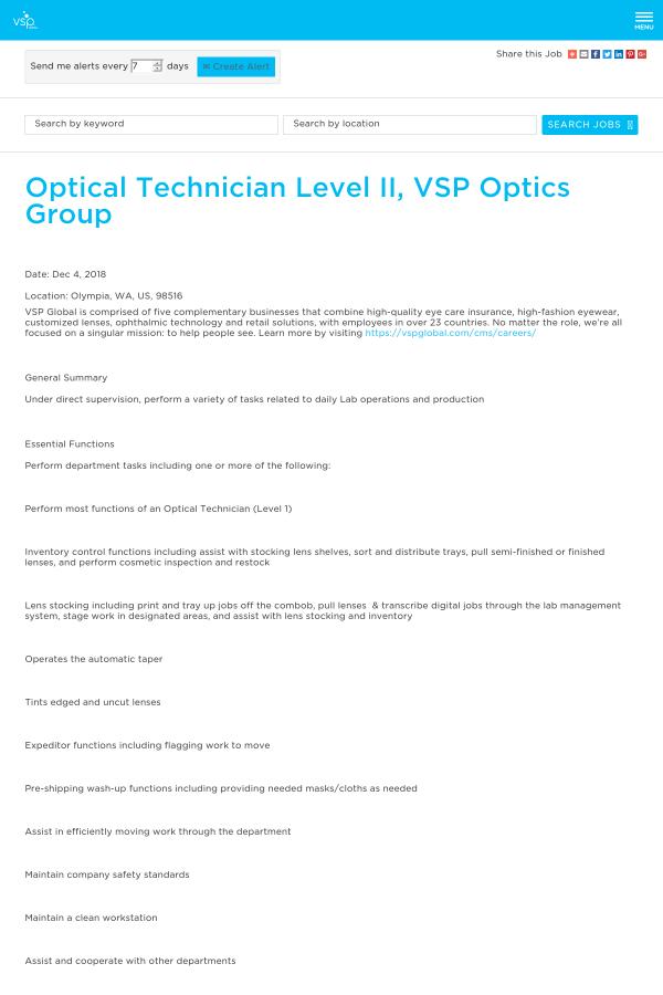 b1f6227a497 Optical Technician Level II