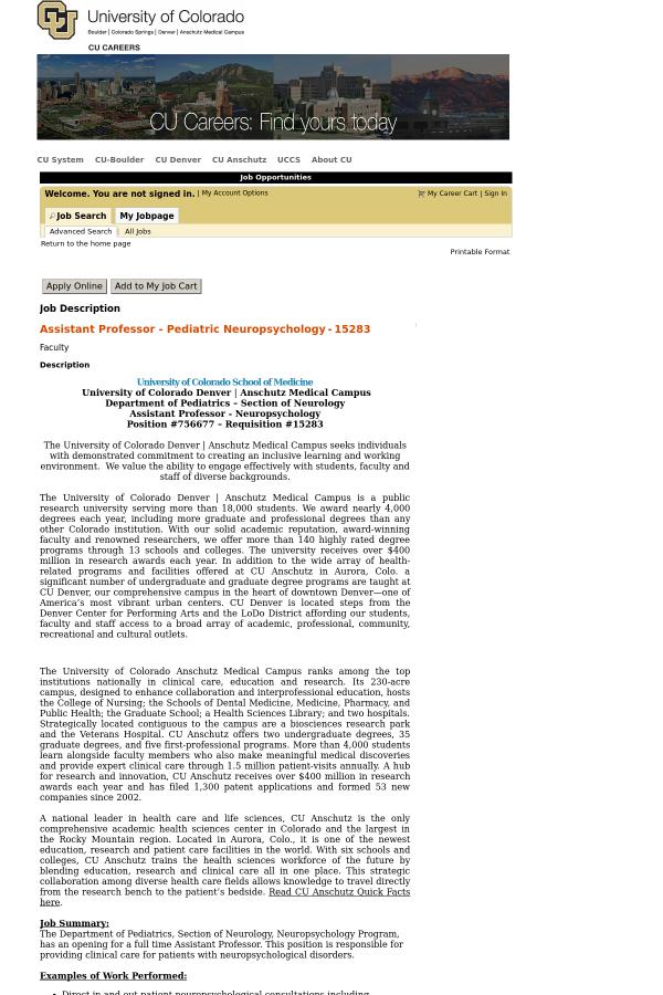 Assistant Professor - Pediatric Neuropsychology job at