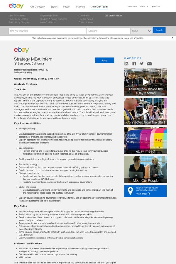 ebay strategic capability analysis