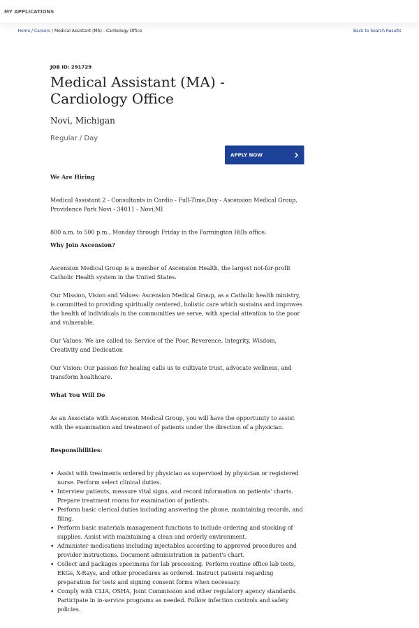 cardiology medical assistant job description - Ataum berglauf