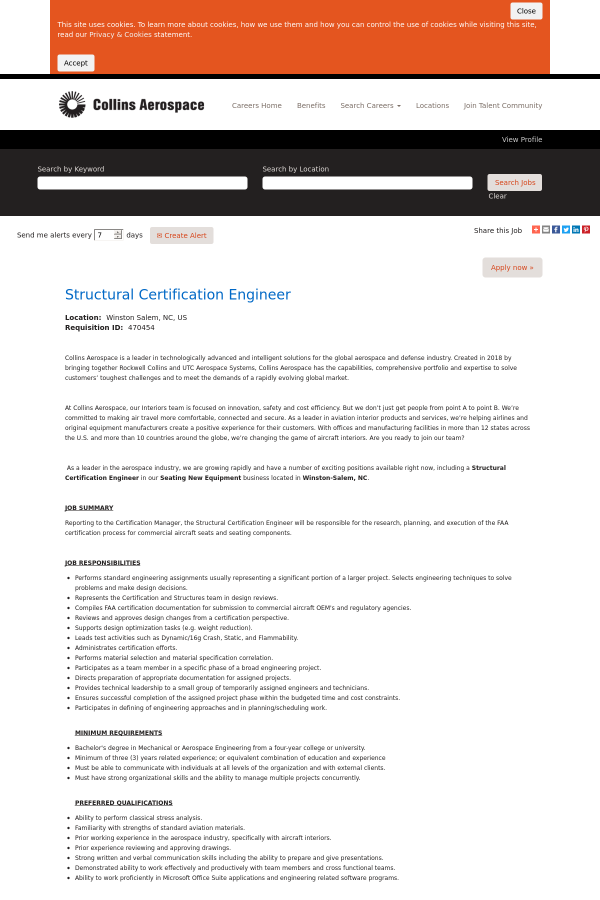 Structural Certification Engineer Job At Be Aerospace Inc In