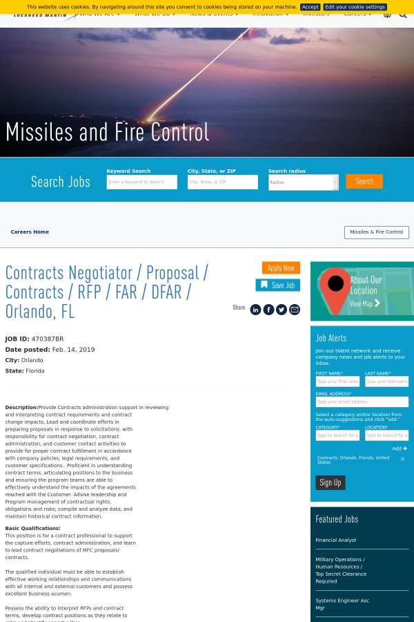 Contracts Negotiator Proposal Contracts Rfp Far Dfar