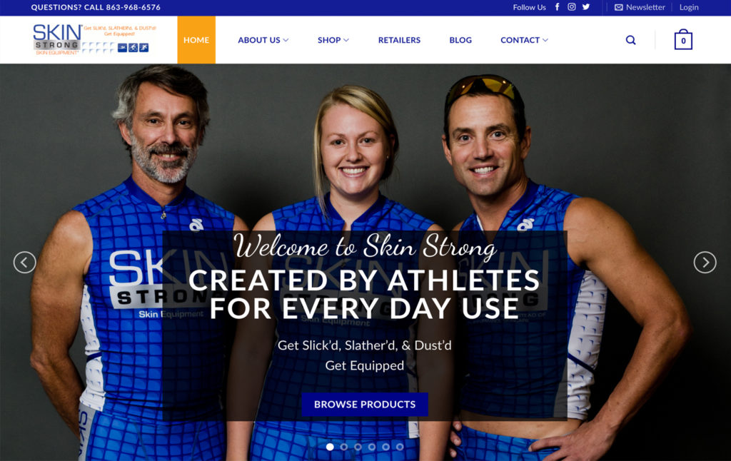 Skin Strong - Ecommerce Web Design