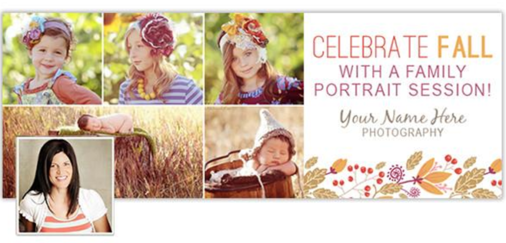 fall in love with seasonal marketing facebook cover