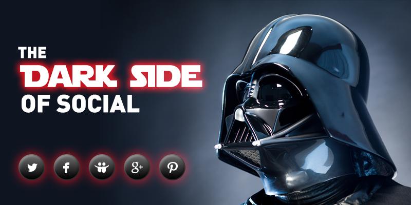 Social Links Have Gone To The Dark Side Star wars vader
