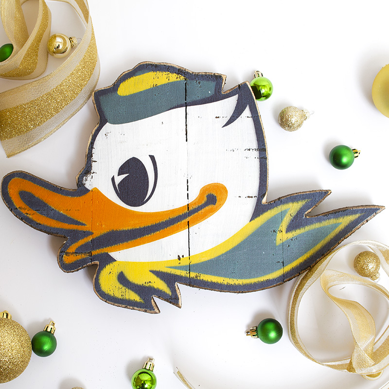 OR Duck Football Alison Caswell Ornament