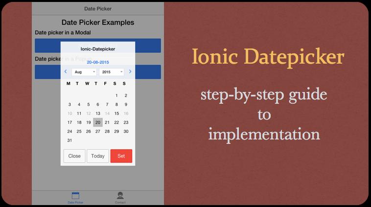 Techdojo Ionic Datepicker