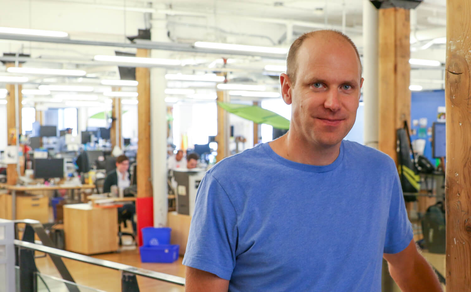 Mike McDerment, Co-Founder & CEO of Freshbooks in the Company's Head Office in Toronto. (Photo by Techvibes).