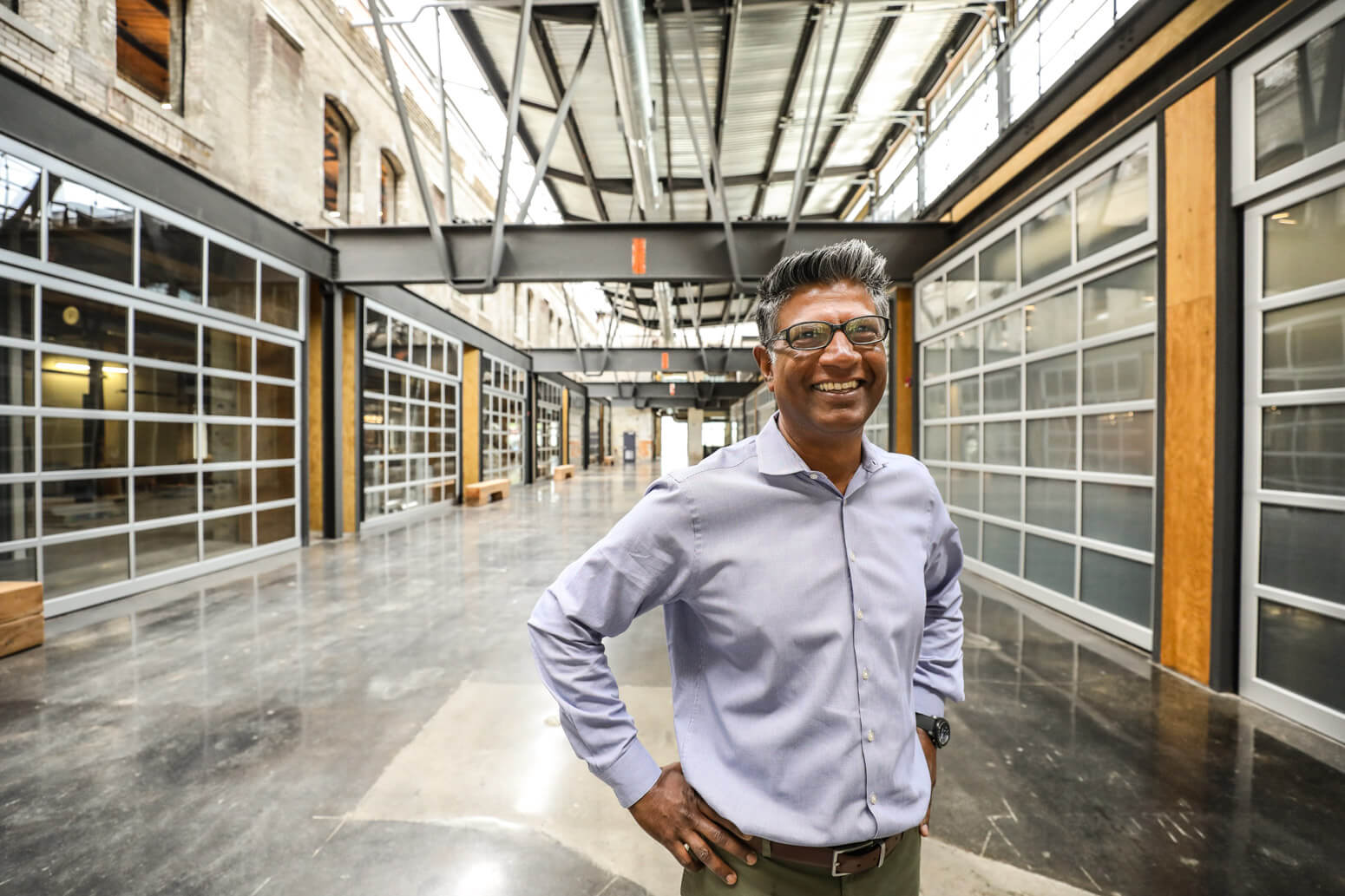 Vena Solutions CEO Don Mal in the lobby of Vena's new headquarters in Toronto's Liberty Village.
