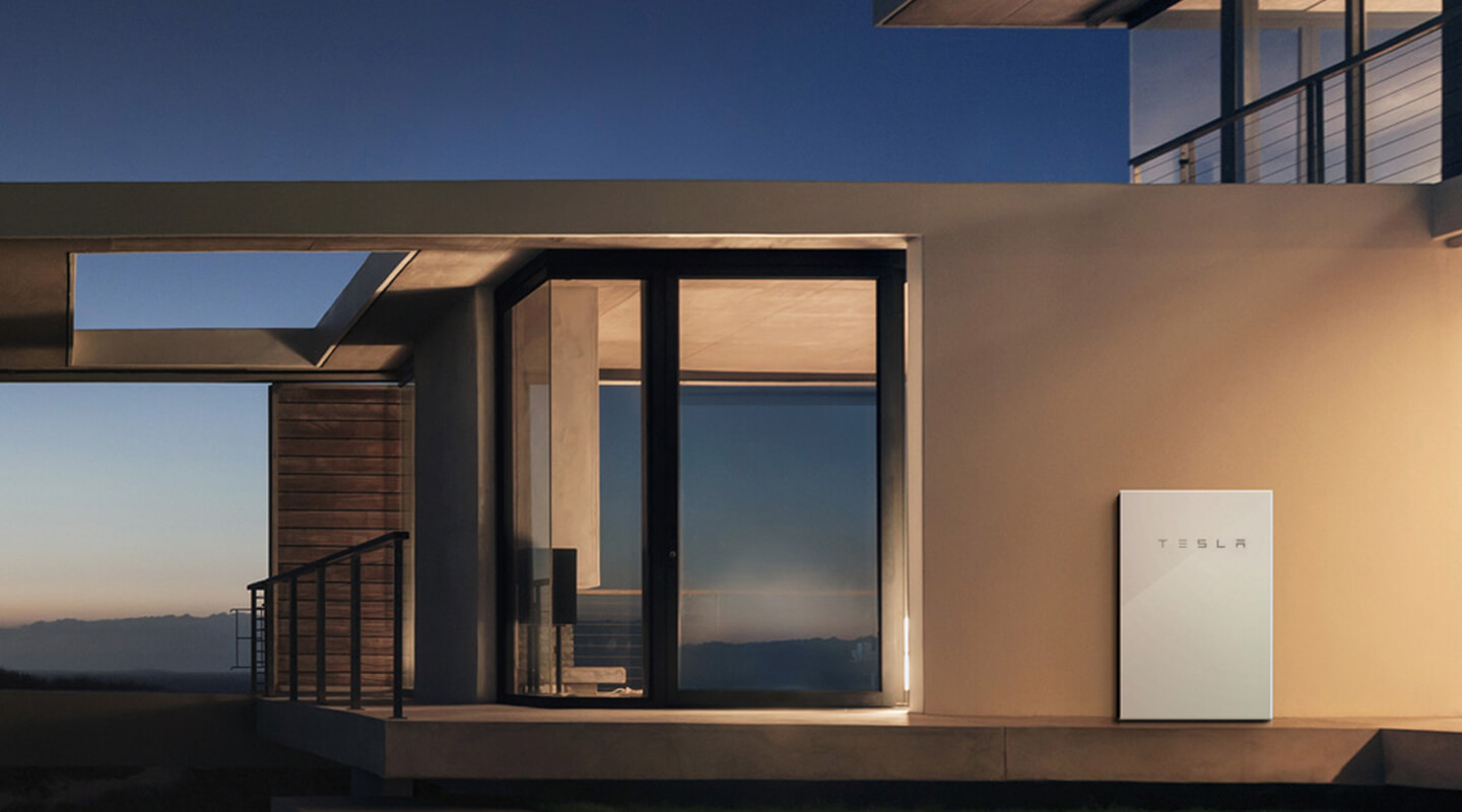 Tesla S Home Battery Powerwall On Display In Tiny House