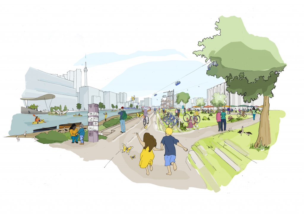 A vision of what Sidewalk Labs' Quayside area may look like.