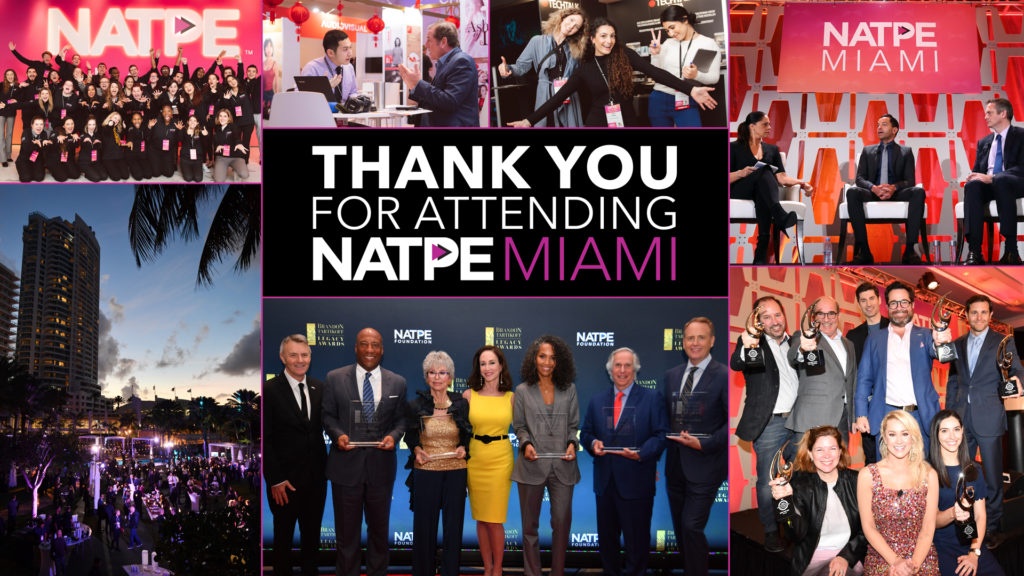 NATPE MIAMI MARKETPLACE + CONFERENCE January 21st-23rd b317bd7e965