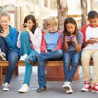 children playing Pokemon GO