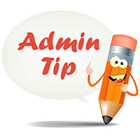 Admin Tip