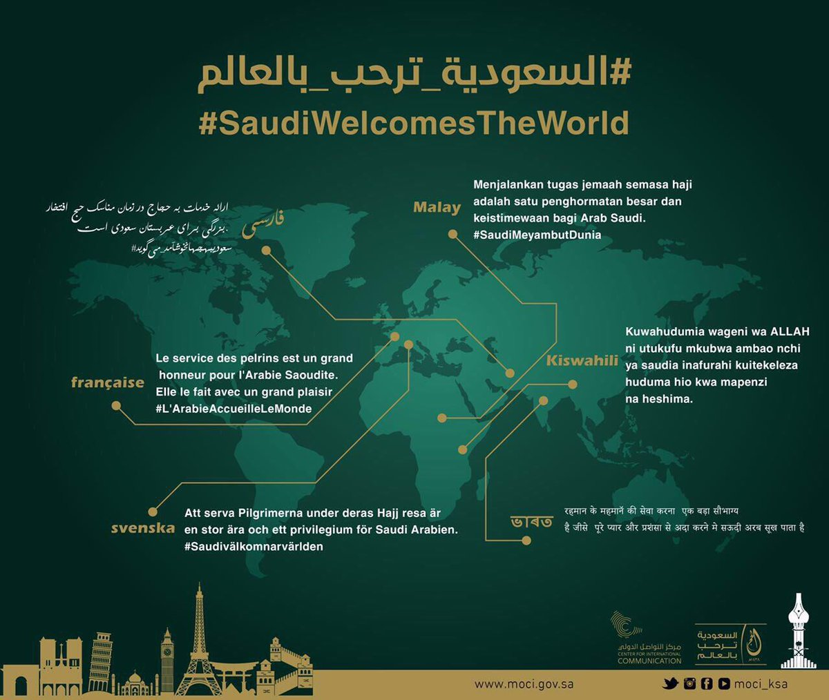 Saudi Welcomes The World
