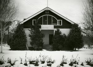 Original Station Office and lab circa winter 1948.