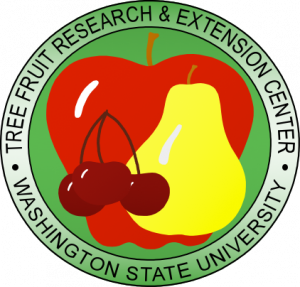 LOG graphic showing an apple, pear, and cherry sitting on a green background surrounded by the TFREC name.