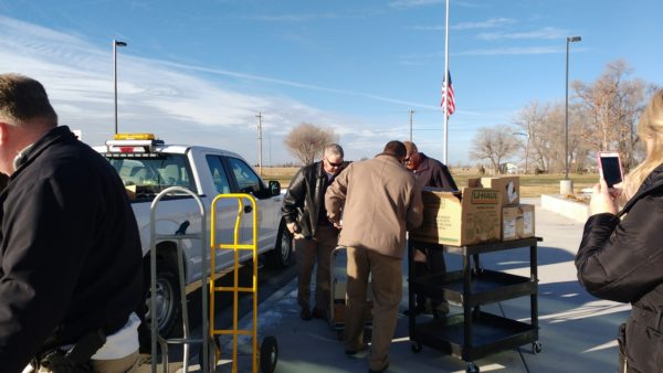 City of Twin Falls employees help fill the TFSD food pantries.