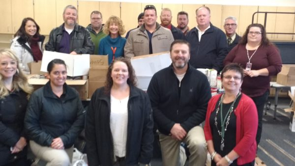 Thank you to the city employees who collected food items to give to students in need.